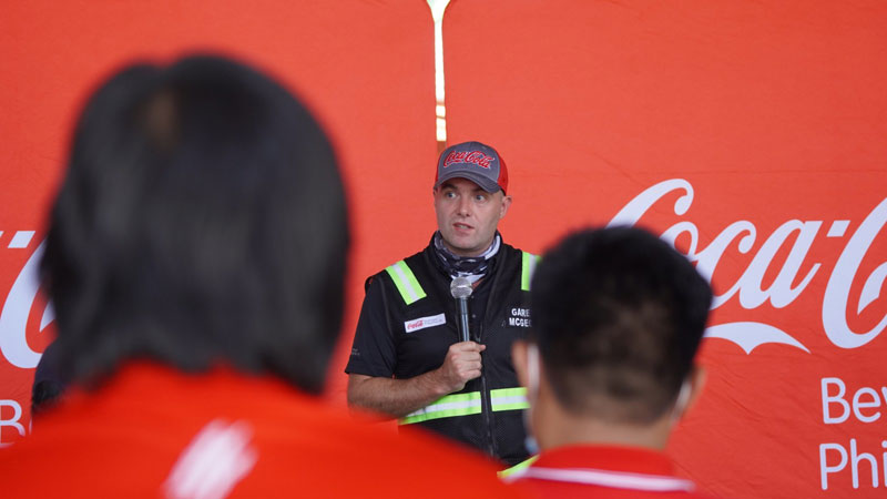 Coca-Cola Beverages Philippines, Inc. (CCBPI) President and CEO, Gareth McGeown conducts site visits to ensure the safety of employees and to strengthen open dialogue between leaders and associates.