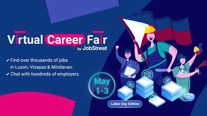 Jobstreet virtual career fair on May 1-3