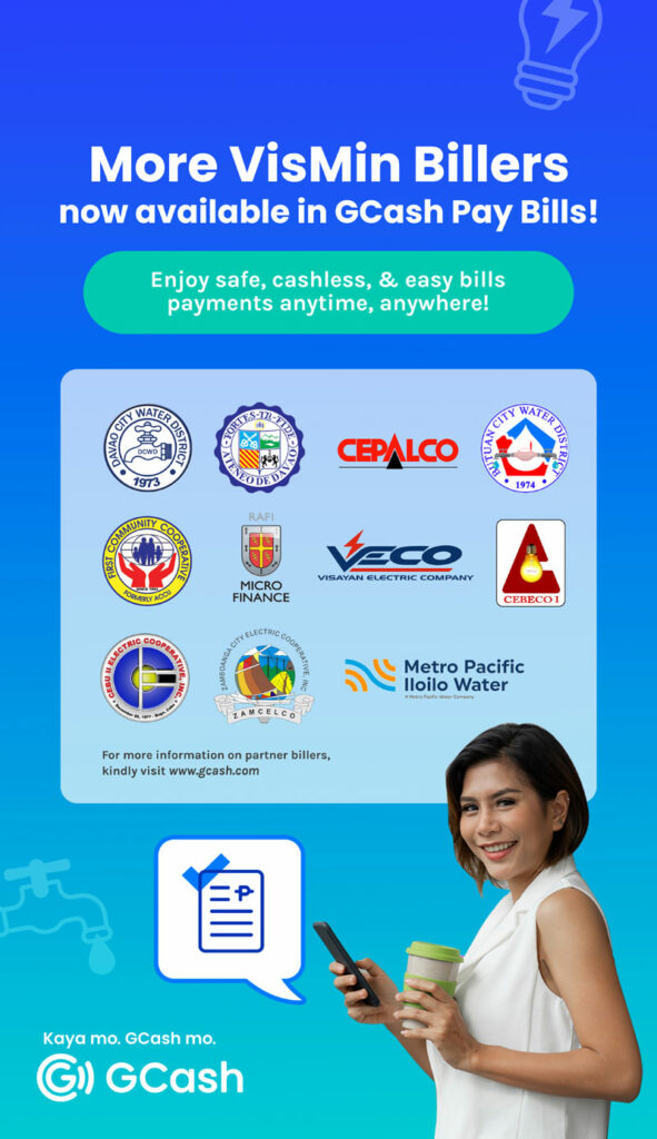 GCash billers in Visayas and Mindanao