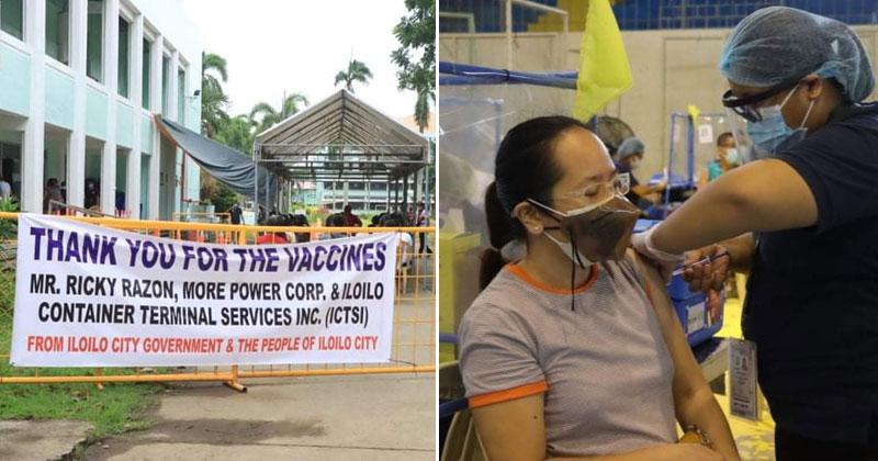 Iloilo City utilizes 5,000 Covid-19 vaccines donated by Enrique Razon of MORE Power.