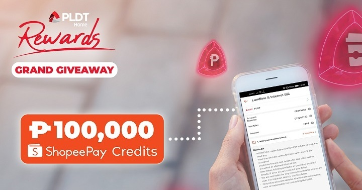 PLDT Home Rewards and Shopee giveaway