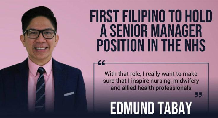Ilonggo nurse Edmund Tabay, a senior manager in NHS UK.