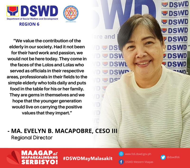 DSWD-6 regional director Evelyn Macapobre