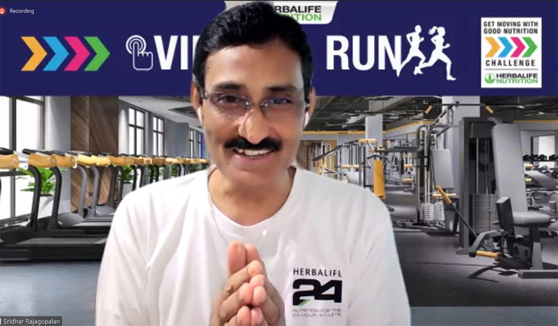 Herbalife Nutrition Philippines GM Sridhar Rajagopalan inviting everyone to participate in the Virtual Run set this October.